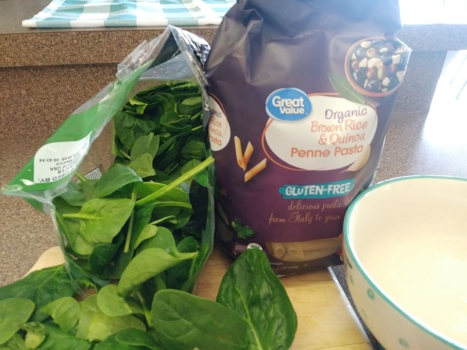 spinach penne salad ingredients